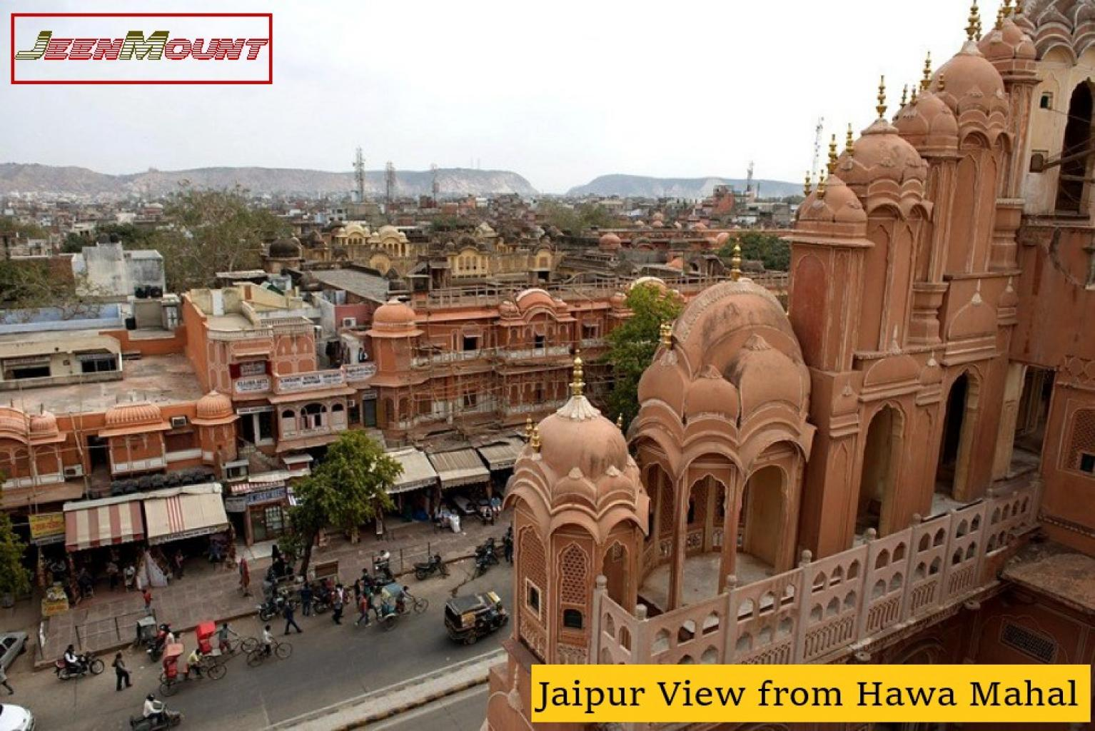 City view from Hawa Mahal